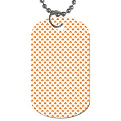 Orange Heart-Shaped Clover on White St. Patrick s Day Dog Tag (Two Sides)