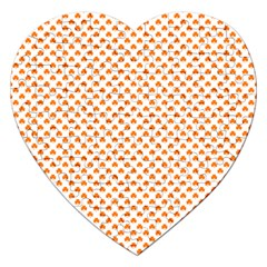 Orange Heart-Shaped Clover on White St. Patrick s Day Jigsaw Puzzle (Heart)