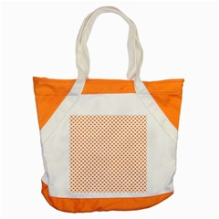 Orange Heart-Shaped Clover on White St. Patrick s Day Accent Tote Bag