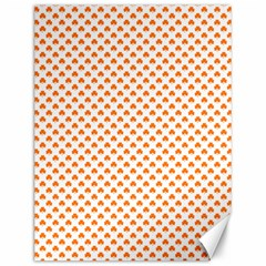 Orange Heart-Shaped Clover on White St. Patrick s Day Canvas 12  x 16