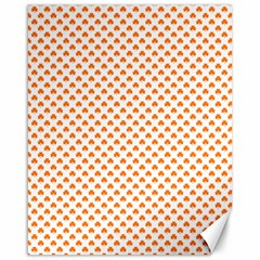 Orange Heart-Shaped Clover on White St. Patrick s Day Canvas 16  x 20