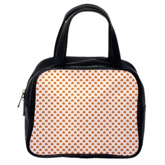 Orange Heart-Shaped Clover on White St. Patrick s Day Classic Handbags (One Side)