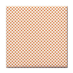 Orange Heart-Shaped Clover on White St. Patrick s Day Face Towel
