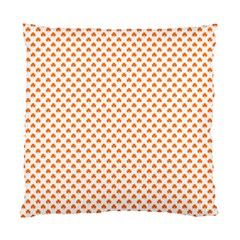 Orange Heart-Shaped Clover on White St. Patrick s Day Standard Cushion Case (One Side)