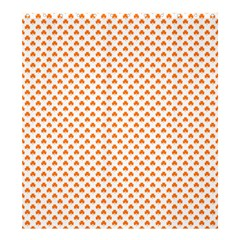 Orange Heart-Shaped Clover on White St. Patrick s Day Shower Curtain 66  x 72  (Large)