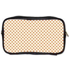 Orange Heart-Shaped Clover on White St. Patrick s Day Toiletries Bags