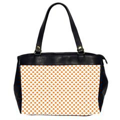 Orange Heart-Shaped Clover on White St. Patrick s Day Office Handbags (2 Sides)