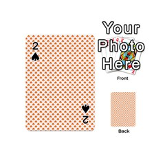 Orange Heart-Shaped Clover on White St. Patrick s Day Playing Cards 54 (Mini)