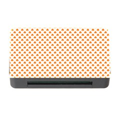 Orange Heart-Shaped Clover on White St. Patrick s Day Memory Card Reader with CF