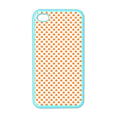 Orange Heart-Shaped Clover on White St. Patrick s Day Apple iPhone 4 Case (Color)