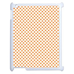 Orange Heart-Shaped Clover on White St. Patrick s Day Apple iPad 2 Case (White)