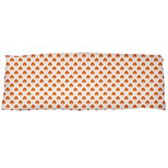 Orange Heart-Shaped Clover on White St. Patrick s Day Body Pillow Case (Dakimakura)