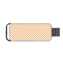 Orange Heart-Shaped Clover on White St. Patrick s Day Portable USB Flash (Two Sides)