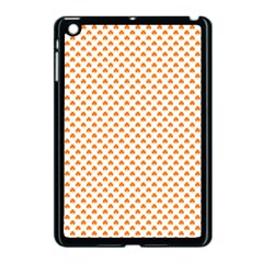Orange Heart-Shaped Clover on White St. Patrick s Day Apple iPad Mini Case (Black)