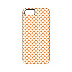 Orange Heart-Shaped Clover on White St. Patrick s Day Apple iPhone 5 Classic Hardshell Case (PC+Silicone)