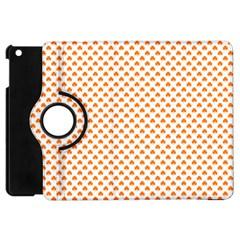 Orange Heart-Shaped Clover on White St. Patrick s Day Apple iPad Mini Flip 360 Case