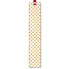 Orange Heart-Shaped Clover on White St. Patrick s Day Large Book Marks