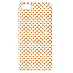 Orange Heart-Shaped Clover on White St. Patrick s Day Apple iPhone 5 Hardshell Case with Stand