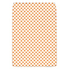 Orange Heart-Shaped Clover on White St. Patrick s Day Flap Covers (L)