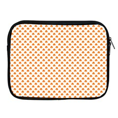 Orange Heart-Shaped Clover on White St. Patrick s Day Apple iPad 2/3/4 Zipper Cases
