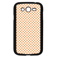 Orange Heart-Shaped Clover on White St. Patrick s Day Samsung Galaxy Grand DUOS I9082 Case (Black)