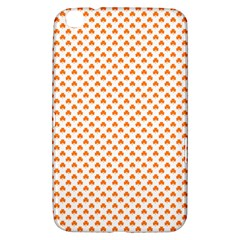 Orange Heart-Shaped Clover on White St. Patrick s Day Samsung Galaxy Tab 3 (8 ) T3100 Hardshell Case