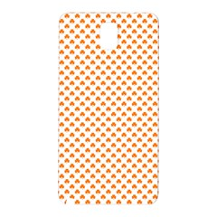 Orange Heart-Shaped Clover on White St. Patrick s Day Samsung Galaxy Note 3 N9005 Hardshell Back Case