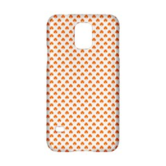 Orange Heart-Shaped Clover on White St. Patrick s Day Samsung Galaxy S5 Hardshell Case