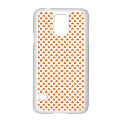 Orange Heart-Shaped Clover on White St. Patrick s Day Samsung Galaxy S5 Case (White)