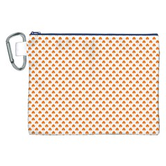 Orange Heart-Shaped Clover on White St. Patrick s Day Canvas Cosmetic Bag (XXL)