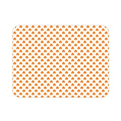 Orange Heart-Shaped Clover on White St. Patrick s Day Double Sided Flano Blanket (Mini)
