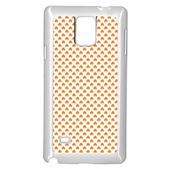 Orange Heart-Shaped Clover on White St. Patrick s Day Samsung Galaxy Note 4 Case (White)
