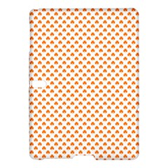 Orange Heart-Shaped Clover on White St. Patrick s Day Samsung Galaxy Tab S (10.5 ) Hardshell Case