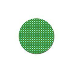 Orange & White Heart-Shaped Clover on Green St. Patrick s Day Golf Ball Marker (10 pack)