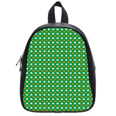 Orange & White Heart-Shaped Clover on Green St. Patrick s Day School Bags (Small)
