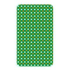 Orange & White Heart-Shaped Clover on Green St. Patrick s Day Memory Card Reader