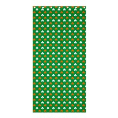 Orange & White Heart-Shaped Clover on Green St. Patrick s Day Shower Curtain 36  x 72  (Stall)