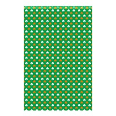 Orange & White Heart-Shaped Clover on Green St. Patrick s Day Shower Curtain 48  x 72  (Small)