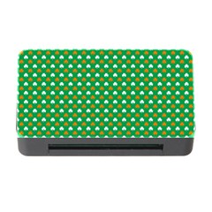 Orange & White Heart-Shaped Clover on Green St. Patrick s Day Memory Card Reader with CF