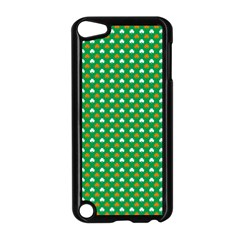 Orange & White Heart-Shaped Clover on Green St. Patrick s Day Apple iPod Touch 5 Case (Black)