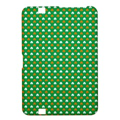 Orange & White Heart-Shaped Clover on Green St. Patrick s Day Kindle Fire HD 8.9