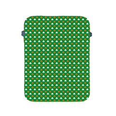 Orange & White Heart-Shaped Clover on Green St. Patrick s Day Apple iPad 2/3/4 Protective Soft Cases