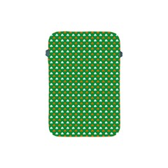 Orange & White Heart-Shaped Clover on Green St. Patrick s Day Apple iPad Mini Protective Soft Cases