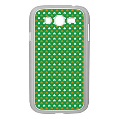 Orange & White Heart-Shaped Clover on Green St. Patrick s Day Samsung Galaxy Grand DUOS I9082 Case (White)