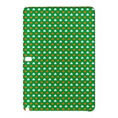 Orange & White Heart-Shaped Clover on Green St. Patrick s Day Samsung Galaxy Tab Pro 12.2 Hardshell Case