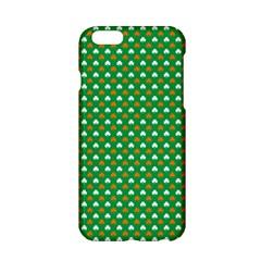 Orange & White Heart-Shaped Clover on Green St. Patrick s Day Apple iPhone 6/6S Hardshell Case