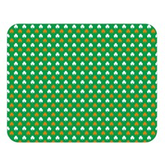 Orange & White Heart-Shaped Clover on Green St. Patrick s Day Double Sided Flano Blanket (Large)