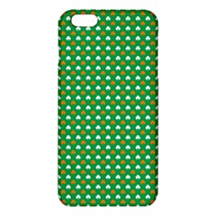 Orange & White Heart Shaped Clover On Green St  Patrick s Day Iphone 6 Plus/6s Plus Tpu Case