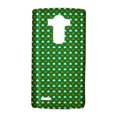 Orange & White Heart-Shaped Clover on Green St. Patrick s Day LG G4 Hardshell Case
