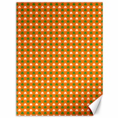 Heart-Shaped Clover Shamrock On Orange St. Patrick s Day Canvas 36  x 48